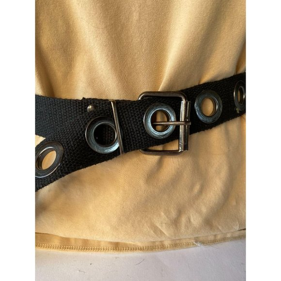 Black Canvas and Grommet Belt Sz M